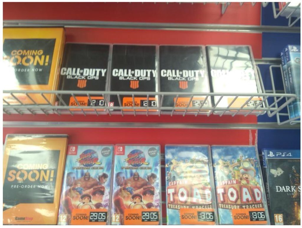 Rumour: GameStop Displaying Nintendo Switch Display Cases For Black Ops 4