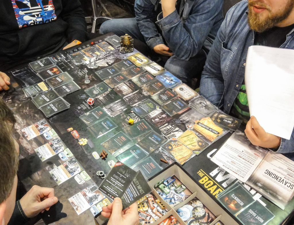 This War of Mine: The Board Game being played