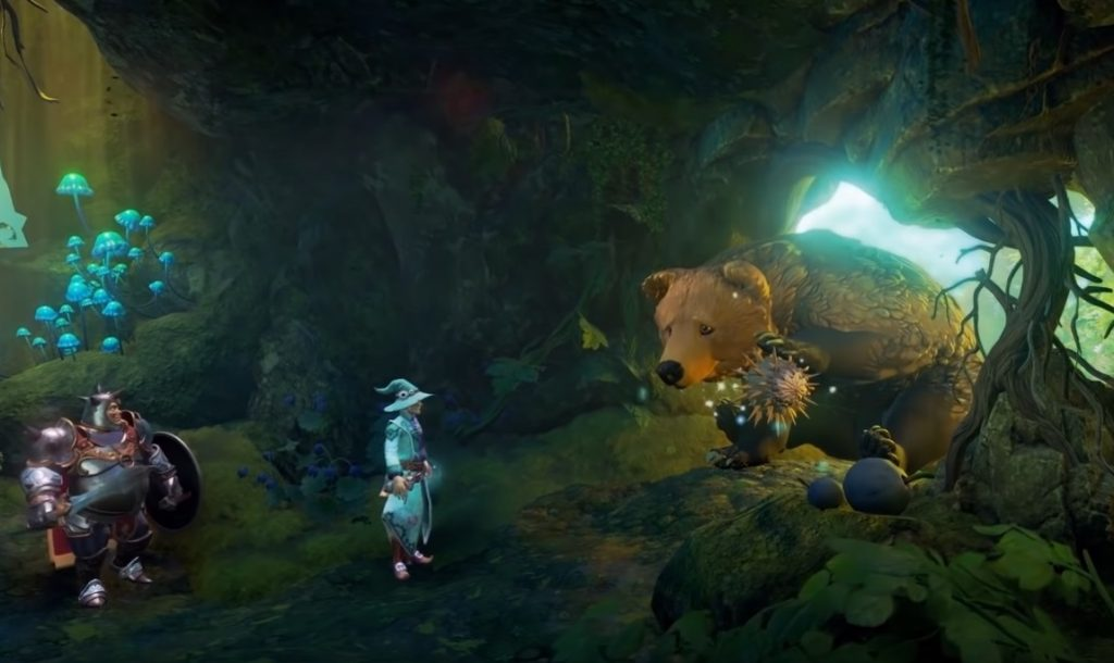 Bear from E3 Trine 4 gameplay