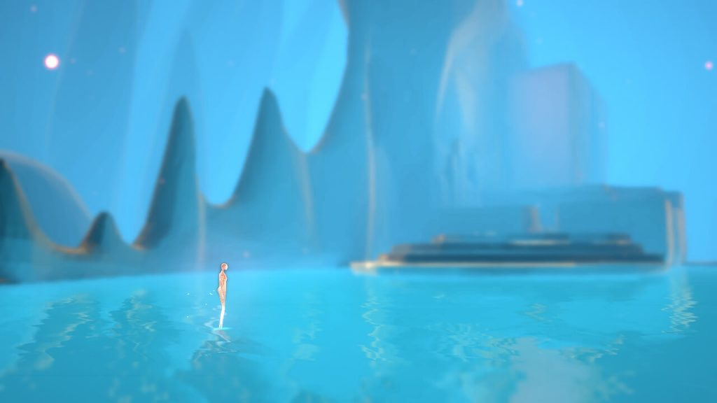 The opening scene in Etherborn, emerging from a pool