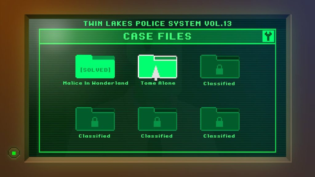 Early game case files selection