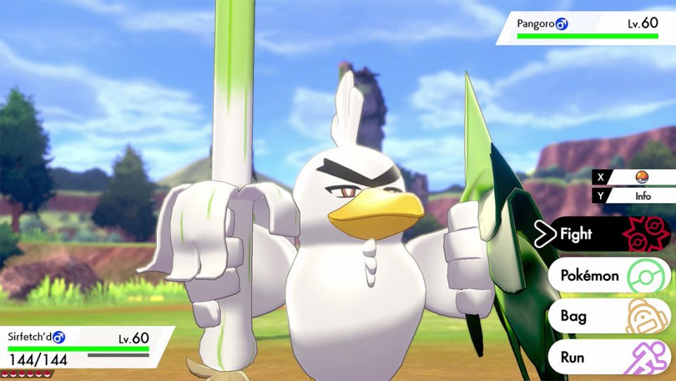 Sirfetch'd is the Newest Exclusive in Pokemon Sword!