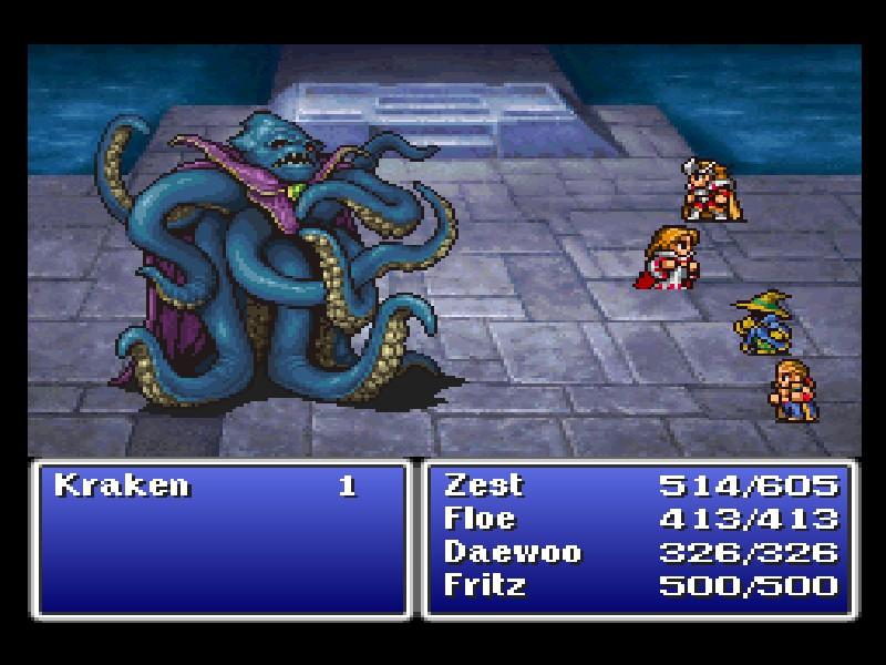 final fantasy i kraken